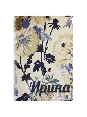 Обложка для паспорта Ирина Tina Bolotina. Цвет: темно-синий, синий, светло-серый
