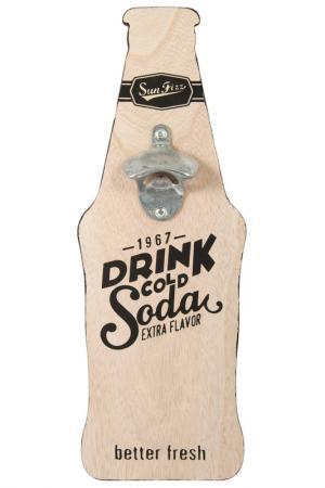 Открывалка для бутылок Русские подарки. Цвет: розовый, черный