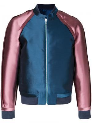 Куртка-бомбер с необработанными краями Private Policy. Цвет: розовый и фиолетовый