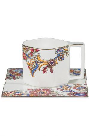 Чайная пара 6 шт. Royal Porcelain. Цвет: белый