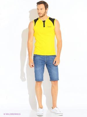 Майка GiovedI. Цвет: желтый