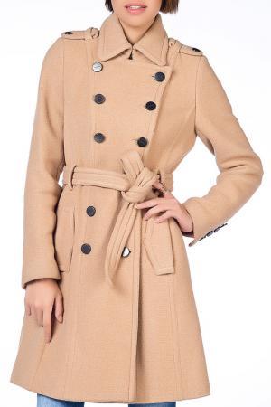 Пальто NARAMAXX. Цвет: бежевый