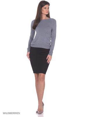 Женский вязаный джемпер с длинными рукавами SMART&FANCY. Цвет: серый