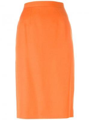 Юбка-карандаш Guy Laroche Vintage. Цвет: жёлтый и оранжевый