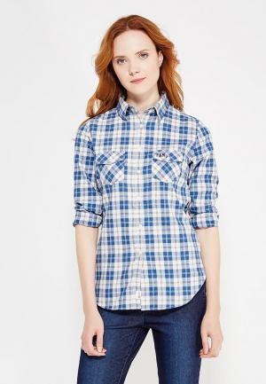 Рубашка Franklin & Marshall. Цвет: голубой