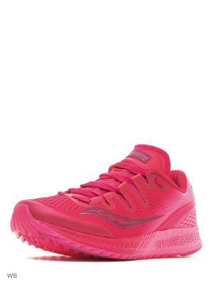 Кроссовки Saucony. Цвет: фиолетовый, розовый