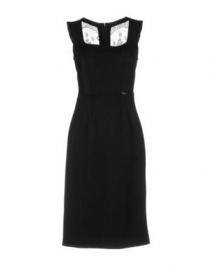 Платье до колена SONIA FORTUNA. Цвет: черный