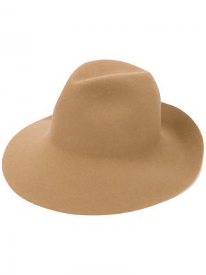 Фетровая шляпа Kijima Takayuki. Цвет: коричневый