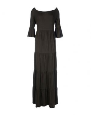 Длинное платье CARLA G.. Цвет: зеленый-милитари