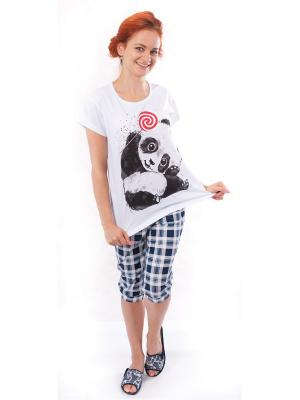 Пижама (футболка,шорты) Валерия 37. Цвет: синий, белый