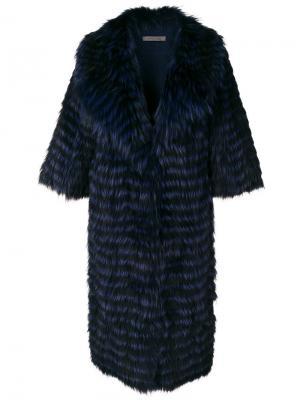Пальто Chiara Simonetta Ravizza. Цвет: синий