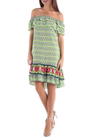 Платье Magnet. Цвет: зеленый