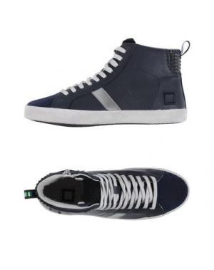 Высокие кеды и кроссовки D.A.T.E. KIDS. Цвет: темно-синий