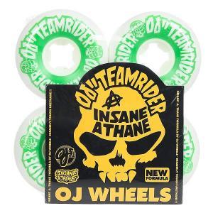 Колеса для скейтборда  Team Rider Hard Line Insaneathane White/Green 99A 58 mm Oj. Цвет: белый,зеленый