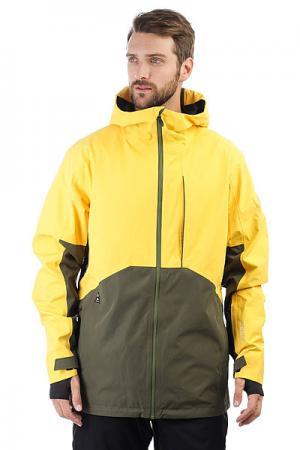 Куртка утепленная  Forever Gore Solar Power Quiksilver. Цвет: желтый,зеленый