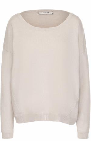 Кашемировый пуловер с круглым вырезом Dorothee Schumacher. Цвет: бежевый