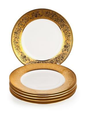 Тарелка малая Английский завтрак, 19см Elff Ceramics. Цвет: золотистый, белый