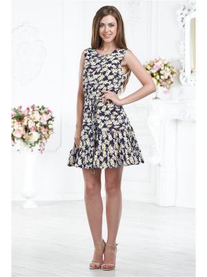 Платье-халат AnGela. Цвет: синий