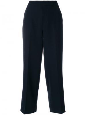 Укороченные строгие брюки Pt01. Цвет: чёрный