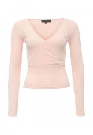 Пуловер LOST INK. Цвет: розовый