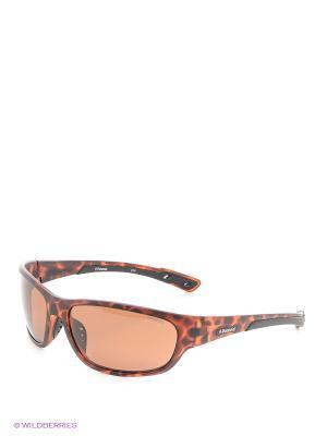 Солнцезащитные очки Polaroid. Цвет: темно-коричневый