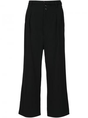 Широкие брюки Totokaelo. Цвет: чёрный