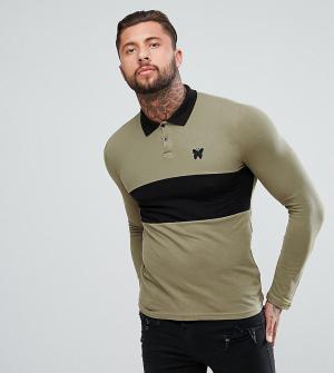 Good For Nothing Облегающая рубашка регби цвета хаки эксклюзивно для A. Цвет: зеленый