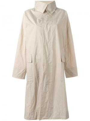 Single breasted coat Issey Miyake. Цвет: телесный
