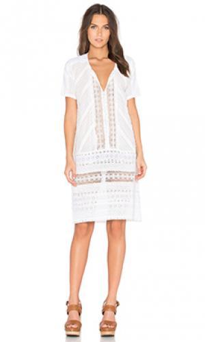 Платье angie Deby Debo. Цвет: белый
