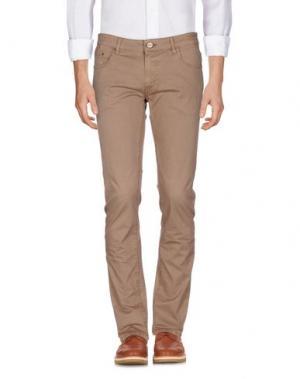 Повседневные брюки PT05. Цвет: светло-коричневый