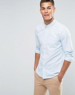 Jack Wills Оксфордская полосатая рубашка классического кроя. Цвет: синий