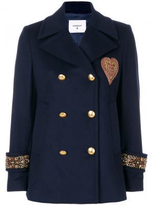 Пиджак милитари с аппликацией Dondup. Цвет: синий