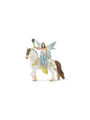Эйла на лошади SCHLEICH. Цвет: белый, голубой