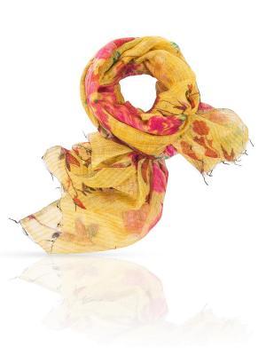 Палантин MICHEL KATANA`. Цвет: розовый, бордовый, золотистый