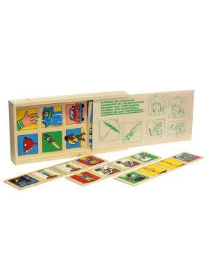 Настольная игра Домино Противоположности ЛЭМ. Цвет: зеленый, коричневый, красный