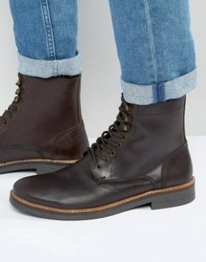 Frank Wright Коричневые кожаные ботинки на шнуровке. Цвет: коричневый
