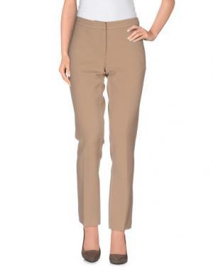 Повседневные брюки AQUILANO-RIMONDI. Цвет: верблюжий