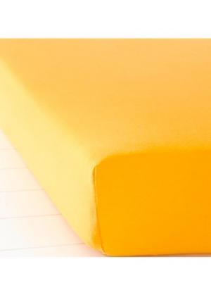 Простыня-чехол Джерси (манго) bonprix. Цвет: манго