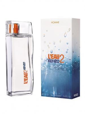Leau 2 men edt 100 ml KENZO. Цвет: белый, голубой, оранжевый