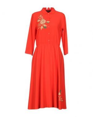 Платье длиной 3/4 POUSTOVIT. Цвет: красный