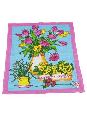 Набор полотенец Кухня 2шт Римейн. Цвет: голубой, розовый