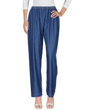 Джинсовые брюки PINK MEMORIES. Цвет: синий