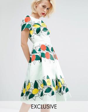 Horrockses Платье миди Lucille. Цвет: мульти