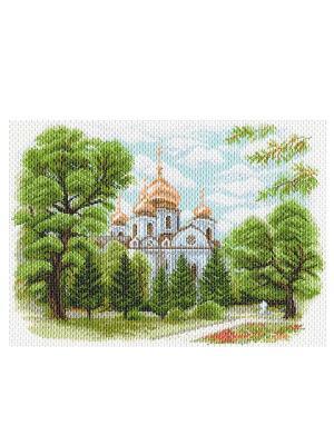 Рисунок на канве Собор Александра Невского в Краснодаре Матренин Посад. Цвет: белый