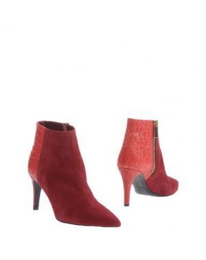 Полусапоги и высокие ботинки PREZIOSO. Цвет: пурпурный
