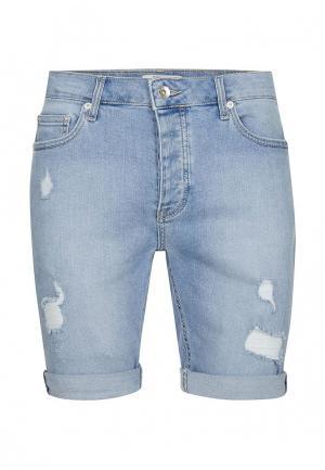 Шорты джинсовые Topman. Цвет: голубой