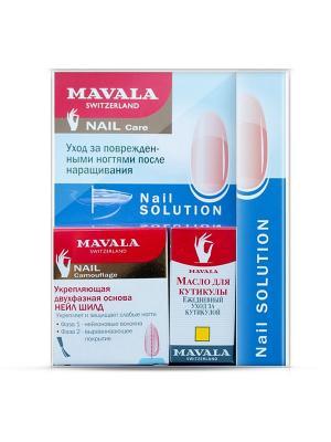 Набор Уход за поврежденными ногтями после наращивания Mavala. Цвет: прозрачный