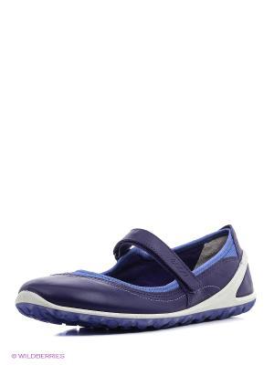 Туфли ECCO. Цвет: фиолетовый, голубой