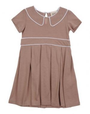 Платье DOUUOD. Цвет: светло-коричневый