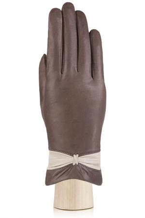 Перчатки Labbra. Цвет: темно-коричневый, бежевый